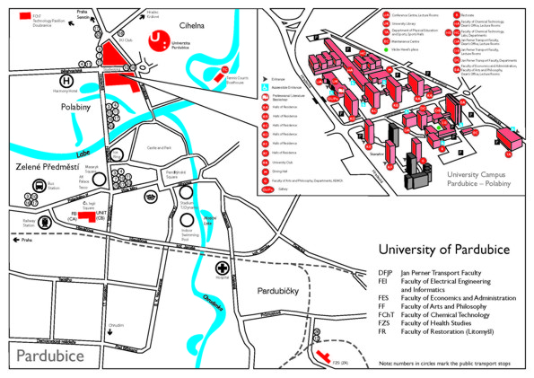 University of Pardubice - map