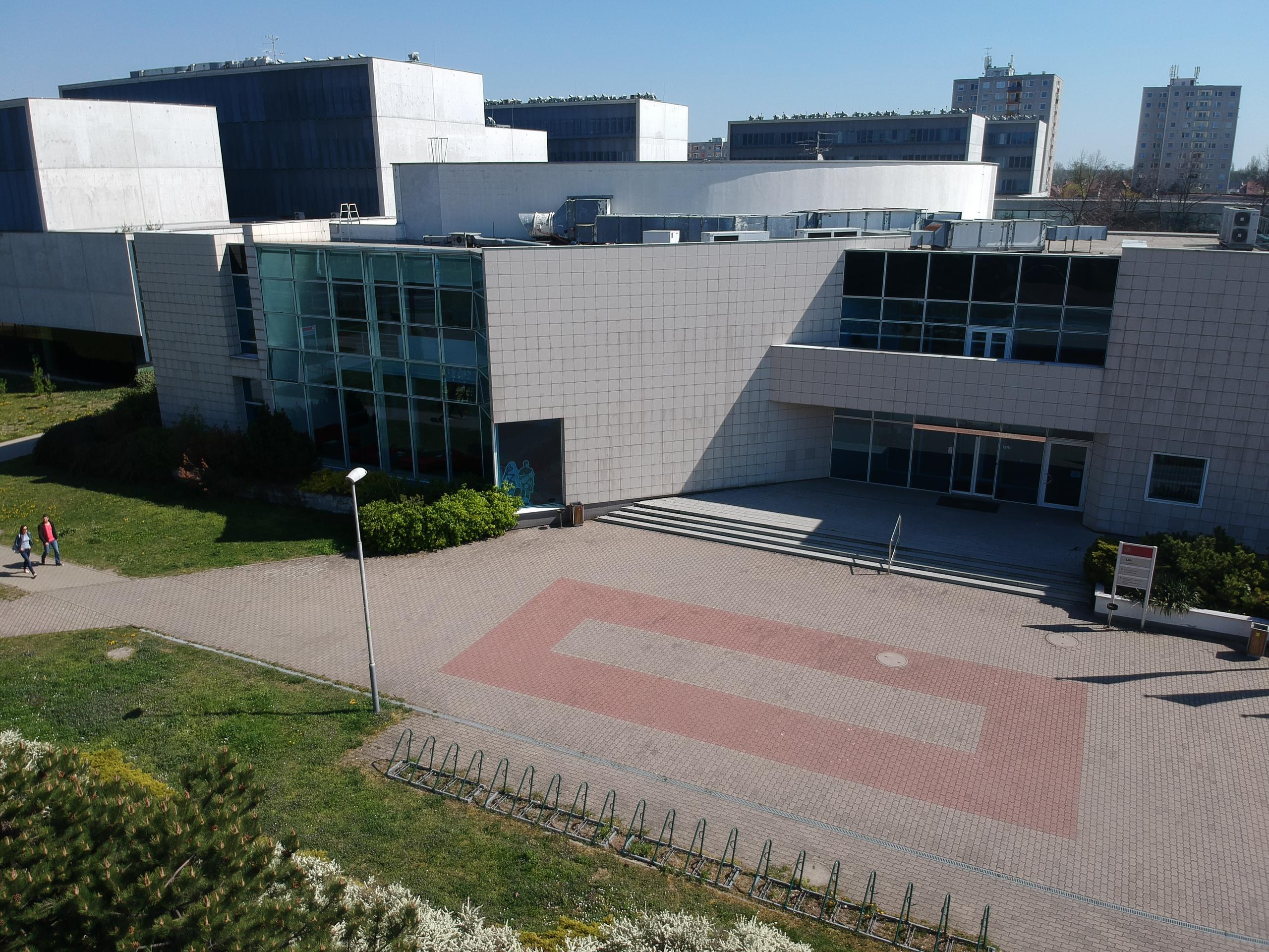 Letecké záběry kampusu 2019