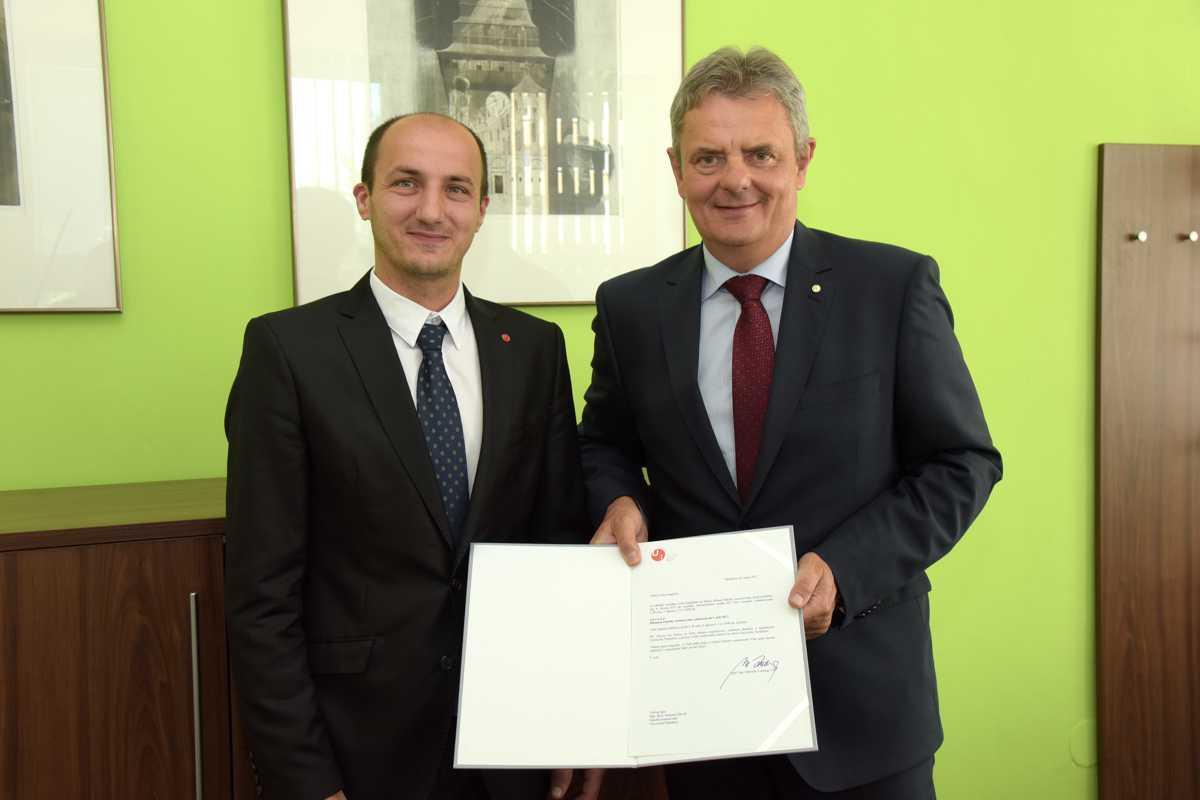 Rektor prof. Ing. Miroslav Ludwig, CSc. jmenoval do funkce děkana FR