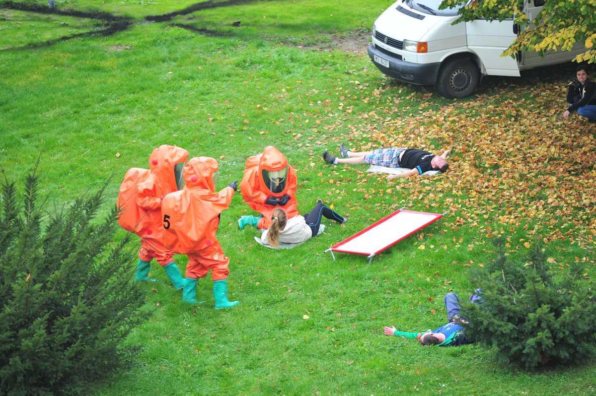 Cvičení Interovaných záchranných složek na UPa 19. 10. 2017